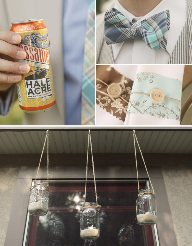 backyard wedding details beer