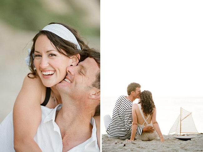 beach engagement photos