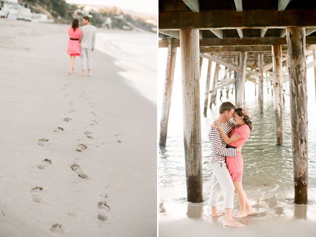 beach engagement photos pier