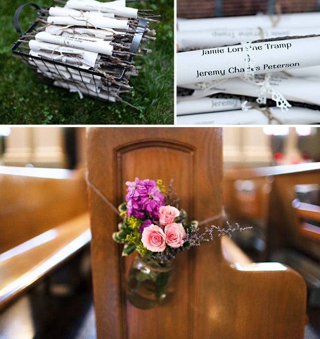 Rustic Woodsy Wedding Ideas: Real Wedding: Jamie + Jeremy's Rustic DIY Wedding