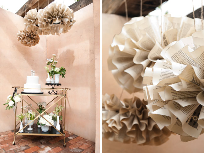 hanging paper balls from old books
