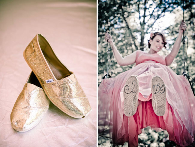 toms gold shoes wedding