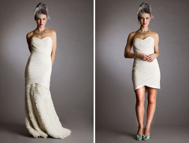 convertible wedding dress long to short