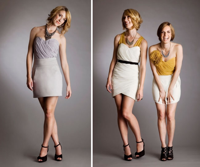 chic bridesmaids dresses quail