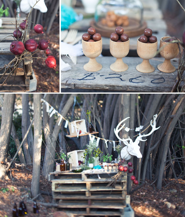 rustic fall engagement party