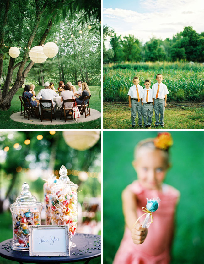 candy jars wedding table