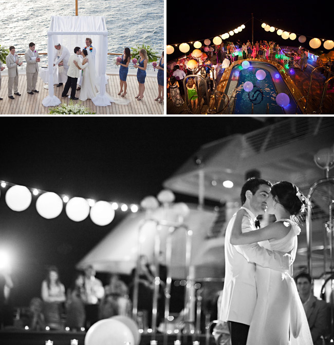 seadream yacht wedding