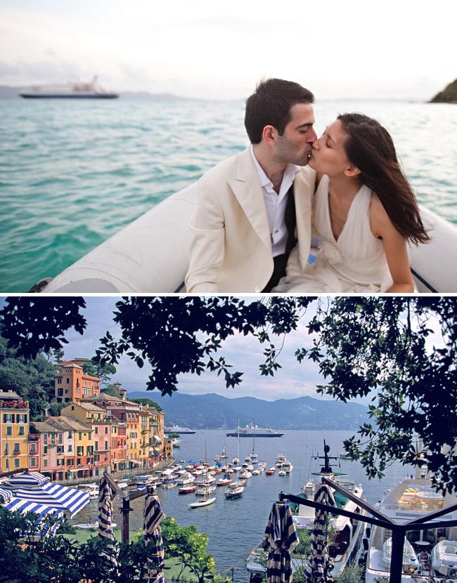 wedding on a boat in cinque terra