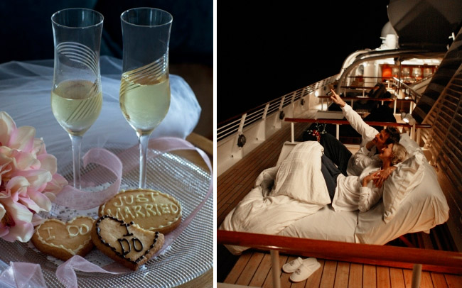 honeymoon on a boat