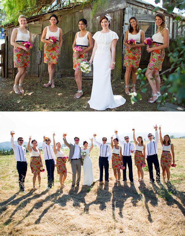 bridesmaids alternative dresses