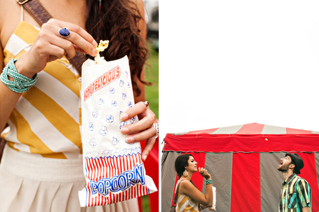 Engagement photos at the fair