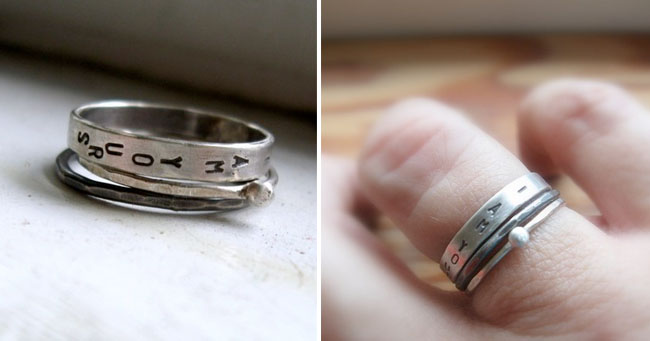 Engraved Wedding Rings