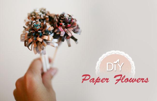 DIY paper flower poms