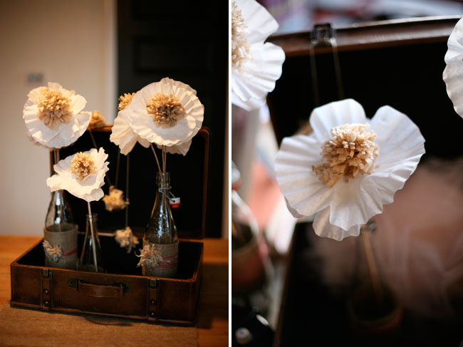 paper flowers with sewing patterns