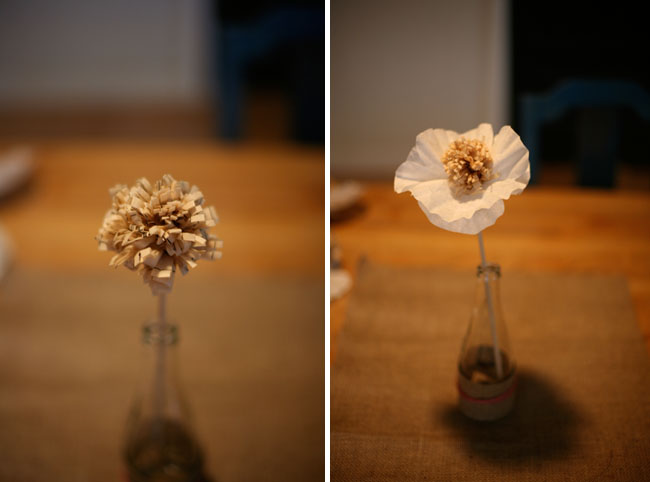 sewing paper flowers