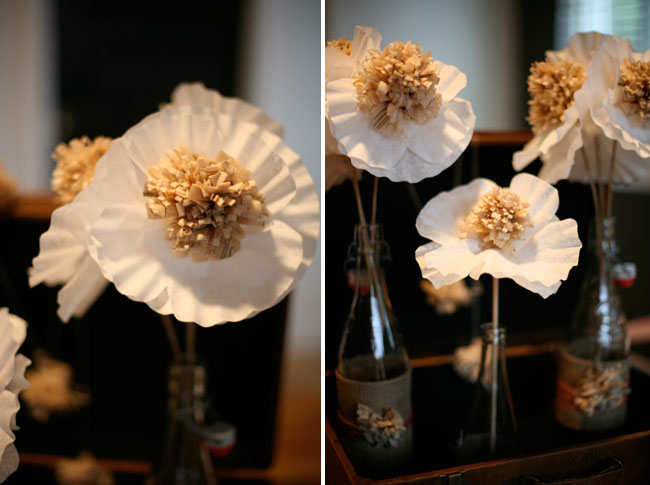 sewing paper coffee filter flowers