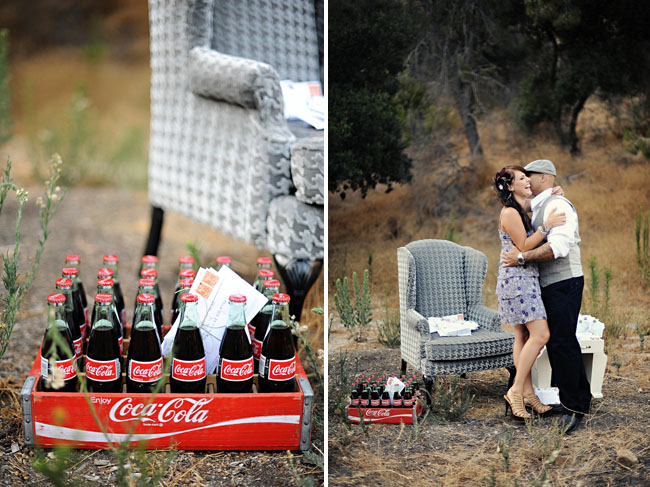 coca cola bottles engagement photos