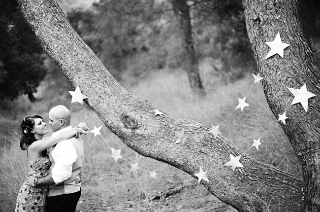 strings of stars engagement photos