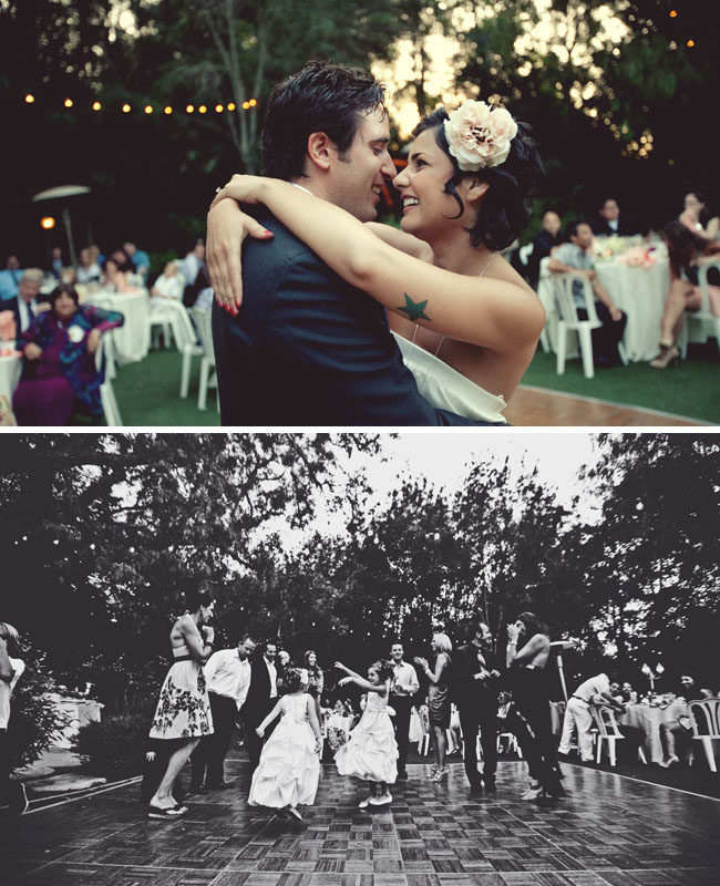 dancing under the trees