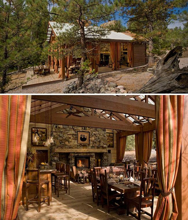 glamping dining pavilion