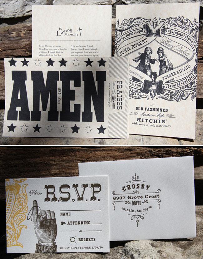 hitchin wedding invitation