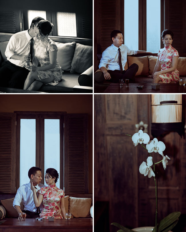 in the mood for love engagement photos