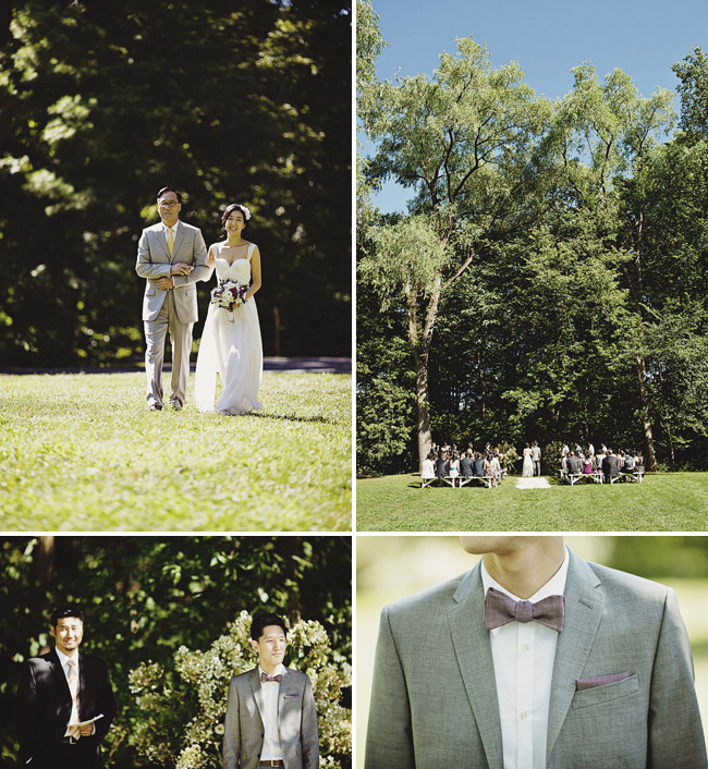 wedding groom bow tie outdoors