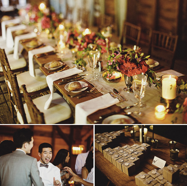 rustic table decorations wedding