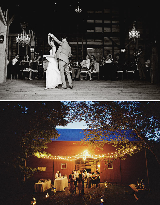 barn wedding night