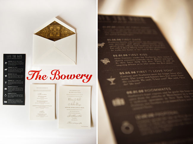 bowery wedding invitations love jenna