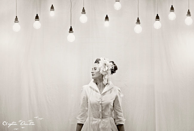 bride with light bulbs