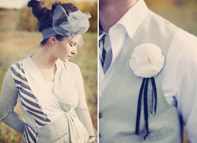 bridesmaid tulle hairpiece