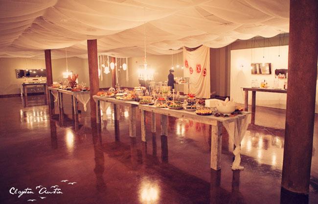wedding reception barn tables