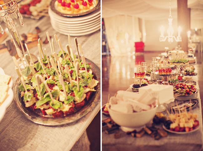 beautiful wedding food table