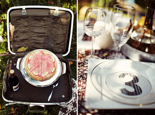 cake in a suitcase