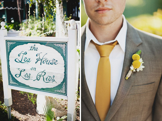 yellow groom tie