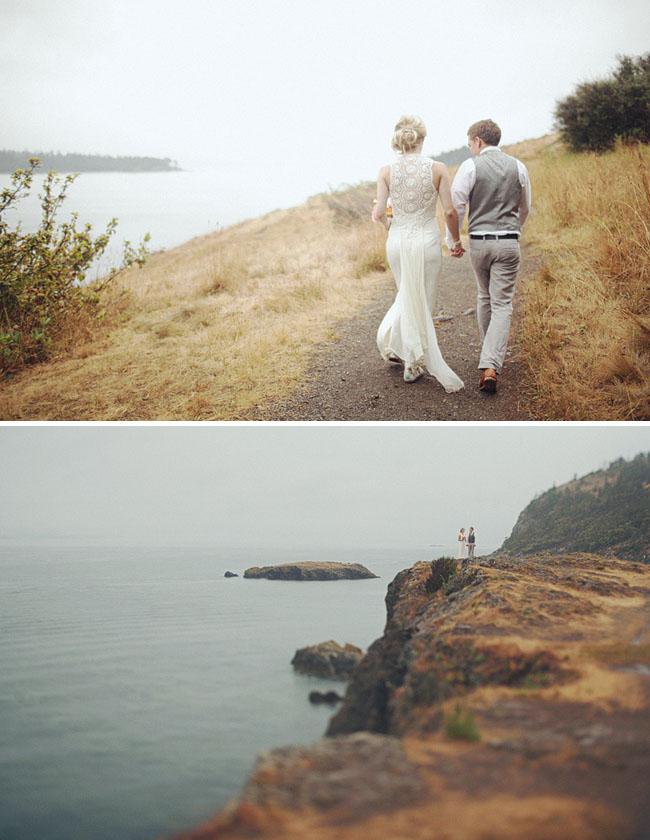 rainy wedding portraits
