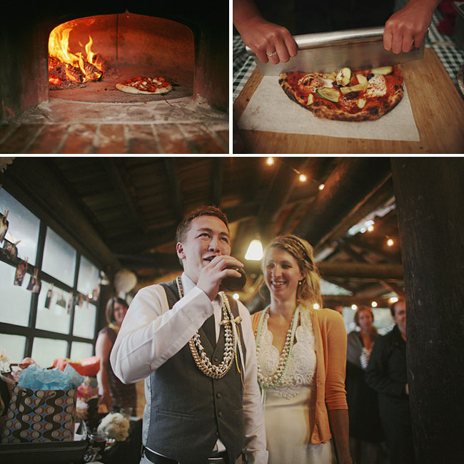 wood grilled pizza wedding