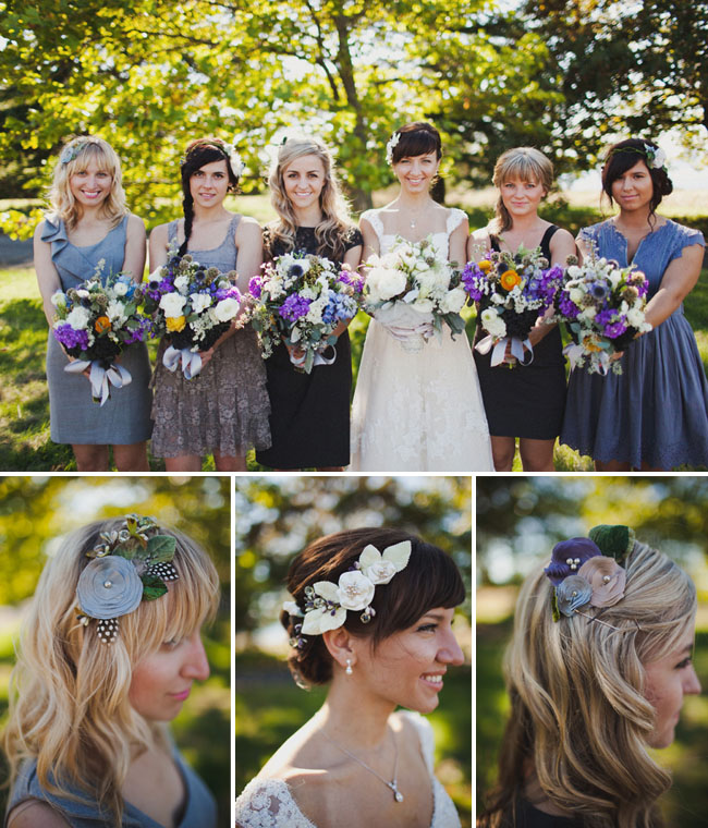 bridal party hairpieces