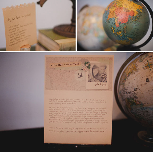 travel wedding globes