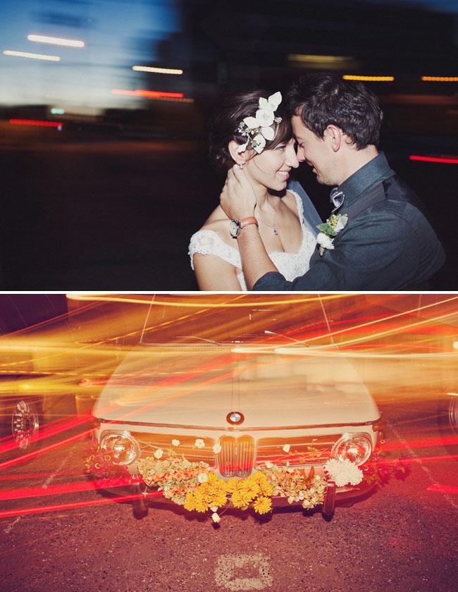 wedding car exit