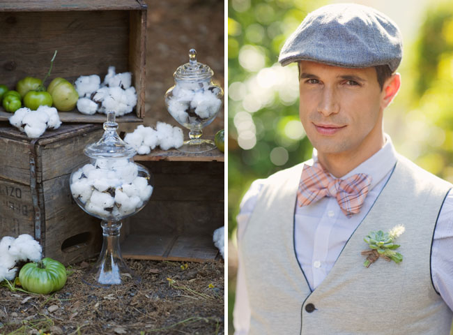 raw cotton wedding bow tie
