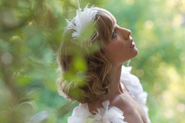 lo boheme hair piece wedding bride