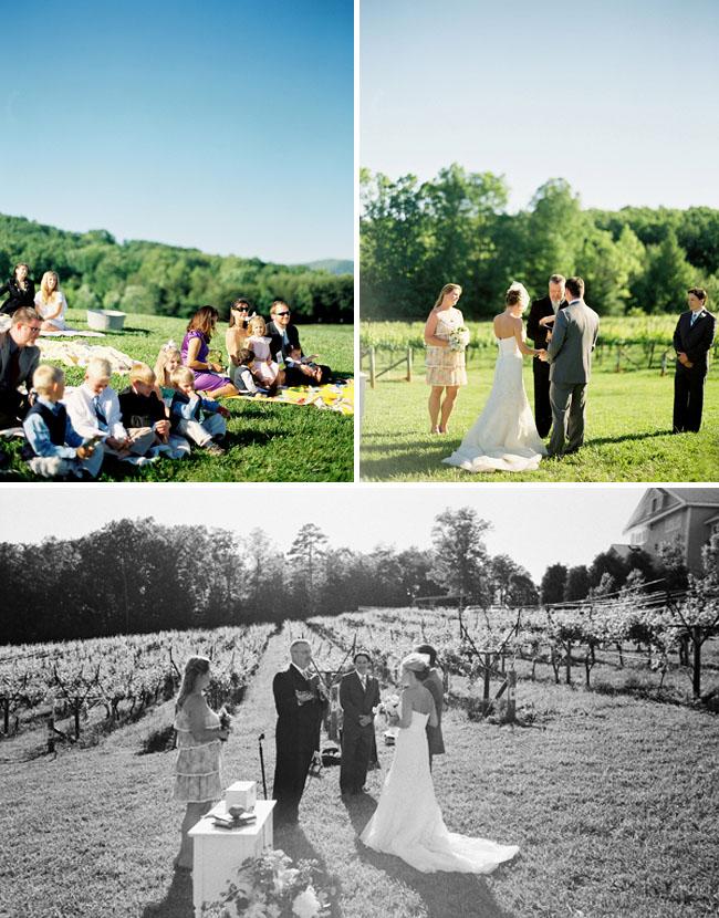 outdoor winery wedding