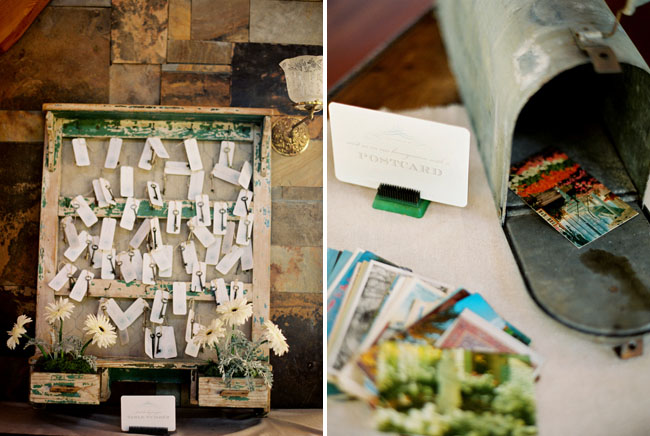 skeleton key placecards wedding