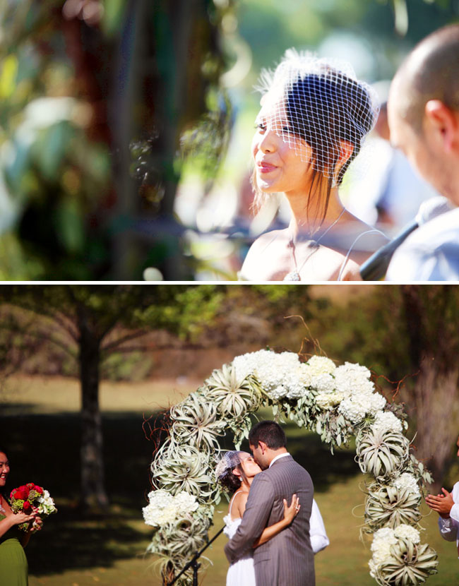 airplant ceremony arch