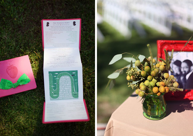 strawberry wedding invitation