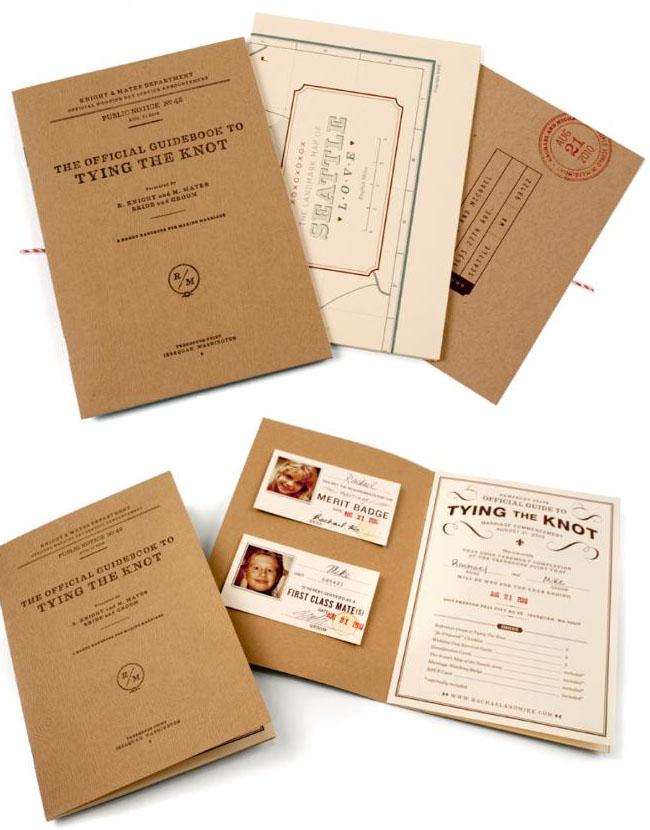 tying the knot handbook wedding invitation