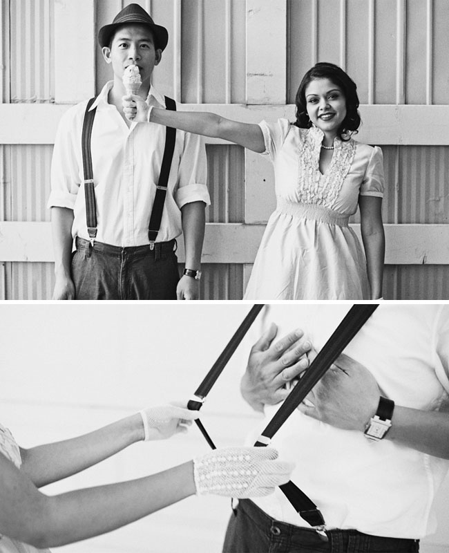 vintage engagement photos