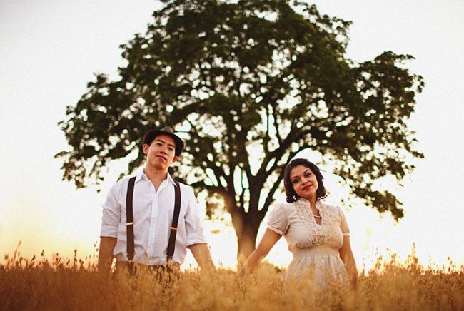 couple under tree photography